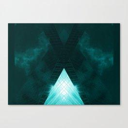 Turquoise skyscraper mill V WH Canvas Print