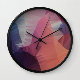 Flower / Poster, scandinavian, art, art print, geometric, pastel, friends, love, summer, Christmas Wall Clock
