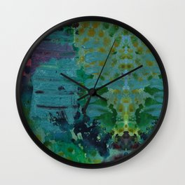 Sound Effects in Teal Wall Clock