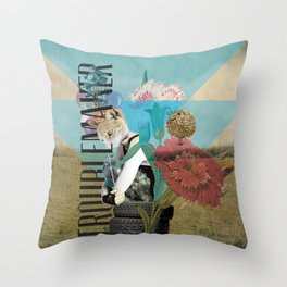 Unshackled, Troublemaker by Lendi Hader Throw Pillow