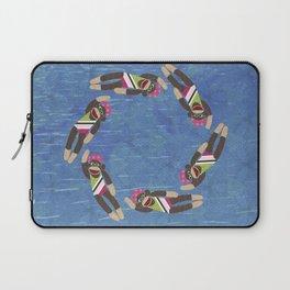 Sock Monkey Water Ballet Vertical Laptop Sleeve