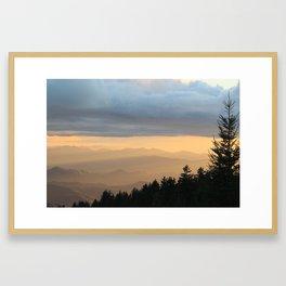 Breathtaking Mountain Sunset * Western North Carolina * Blue Ridges turn Golden Framed Art Print