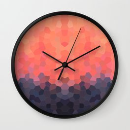 Geometric Abstract Mountain Sunset Wall Clock