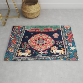 Shigatse Makden South Tibetan Buddhist Saddle Cover Print Rug