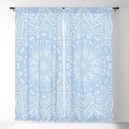 Baby Blue Boho Mandala Blackout Curtain