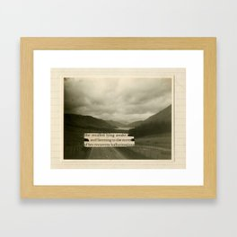 Lying Awake Framed Art Print