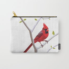 Geometric Cardinal Carry-All Pouch