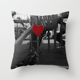 hearted balloon Throw Pillow