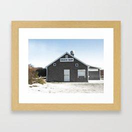 Cape Cod Beach Snack Bar Off Season Framed Art Print