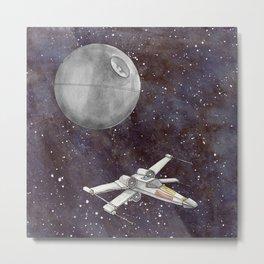 A War in the Stars in Watercolors Metal Print