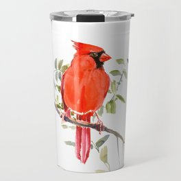 Cardinal Bird Travel Mug