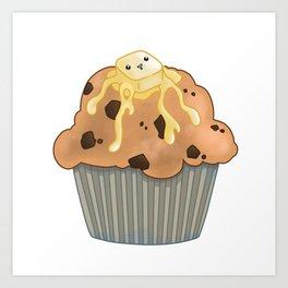 Buttered Muffin Art Print