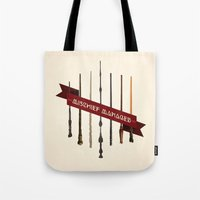 marauders Tote Bags featuring Mischief Managed by Dorothy Leigh