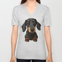 Cute Sausage Dog Unisex V-Neck
