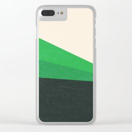 Stripe V Green Fields Clear iPhone Case