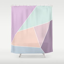 Graphic Pastels Shower Curtain