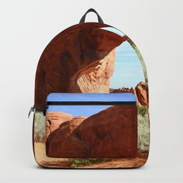 At The End Of The Trail - Pine Tree Arch Backpack