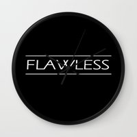 flawless Wall Clocks featuring Flawless by Ebony