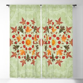 Autumn Mandala Blackout Curtain