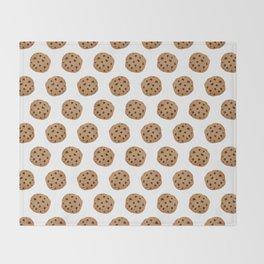 Chocolate Chip Cookies Pattern Throw Blanket