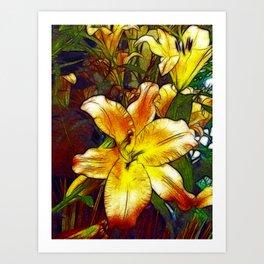 Lily Flower Sketch Art Print