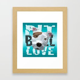 Pit Bull Framed Art Print