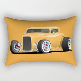 Classic American 32 Hotrod Car Illustration Rectangular Pillow