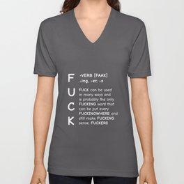 Fuck Definition Unisex V-Neck