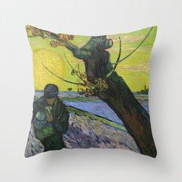 Vincent Van Gogh - The sower Throw Pillow
