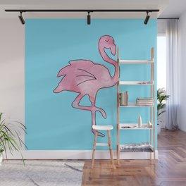 Flamingo Blue Wall Mural