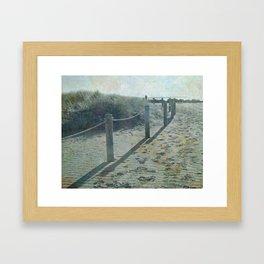Old worlde beach scene Framed Art Print