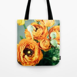 Orange ranunculus Tote Bag