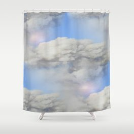 Coming out of the smoke Shower Curtain