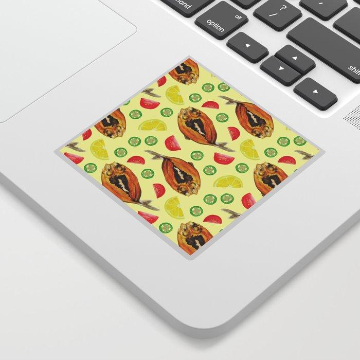 Milkfish Pattern Sticker