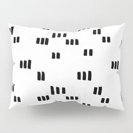 Line Dot Black Paint on Paper Pillow Sham