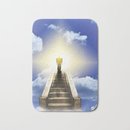Angel On A Stairway To Heaven Bath Mat