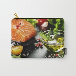Delicious  portion of fresh salmon fillet Carry-All Pouch