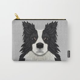 Black Border Collie Carry-All Pouch