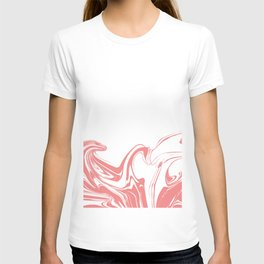 Color drop in water in motion. Ink swirling.  T-shirt