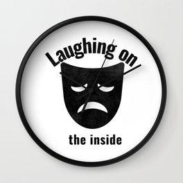 Depression Depressed Laughing on the inside Emoji Jack Lotus Faces Skull Turtle Buddah Wall Clock