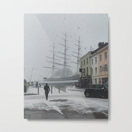 The Clipper in the snow Metal Print