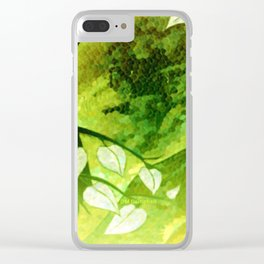 """"""" Green Time """" Clear iPhone Case"""
