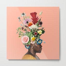 Flower Power- Peach Metal Print