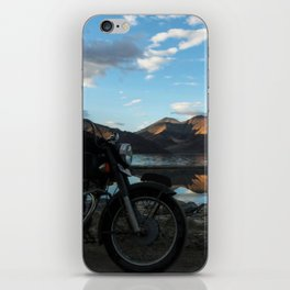 Lonely rider in the evening light...  iPhone Skin