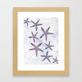 Sea Star Dance Framed Art Print