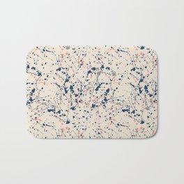 Cream Splatter Bath Mat
