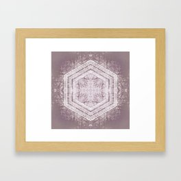 Hexagon Forrest Framed Art Print