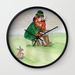 Leprechaun Cobbler Wall Clock