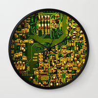 tv Wall Clocks featuring Television by StevenARTify