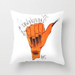 Cowabunga? Throw Pillow